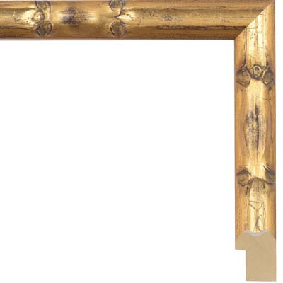 Freestanding or wall mounted perfect for certificates and posters Gold Bamboo A4 Photo Frame Solid wood gilded 1970/'s vintage retro frame