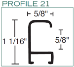 Metal Picture Frame Profile
